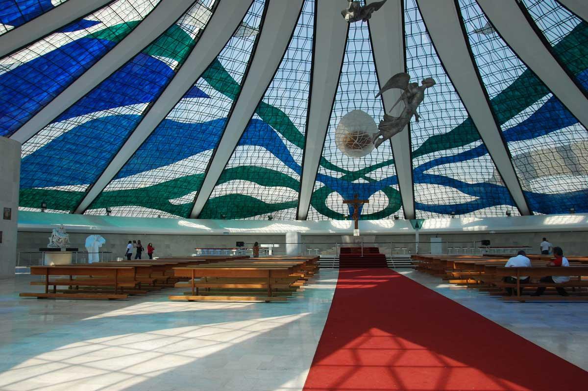 Innenraum Kathedrale Brasilia Oscar Niemeyer
